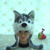 grey wolf styles husky short hats &cartoon animal hat long supply in stock free size one color wholesale free shipping