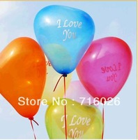 Free Shipping! Wholesale 100pcs Big size 16 inch Heart Shape Balloons Occasions Wedding Birthday Party Decoration Supplies