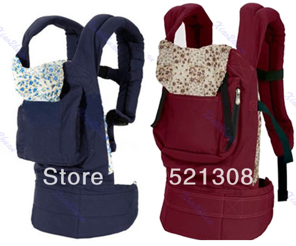 Free Shipping New Front &amp; Back Baby Newborn Carrier Infant Comfort Backpack Sling Wrap Cotton(China (Mainland))