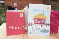 free shipping !!!retail !!!  letter paper & envelope 4pcs+2pcs / cute  letter paper / stationery set