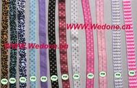 100yards 10colors Free shipping Chevron&polka dot&animal print  foldover elastic  FOE  elastic for headband hair  Accessories