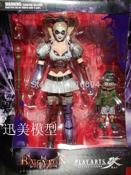 Free Shipping Batman Arkham Asylum Arkham City Harley Quinn Action Figure Toy Doll HRFG046