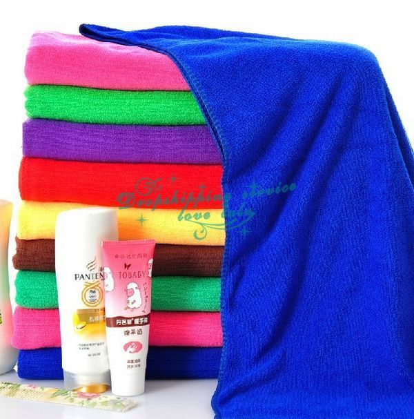 Family essential household soft microfiber large bath towel Hot Drop Shipping/Free Shipping wholesale(China (Mainland))