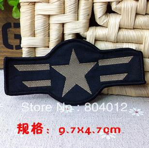 Free Shipping~10 pcs/Lot x Embroidered air force Iron On Patch~ Wholesale DIY accessory Applique Badge(China (Mainland))