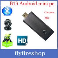 Built-in Bluetooth MIC 2.0MP Camera 1GB 8GB AV Output ,B13 RK3066 Dual Core Mini PC Cortex-A9 1.6Ghz Android TV Box 10pcs/lot