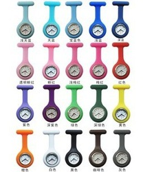 Battery jelly color silica gel nurse table nurse pocket watch medical nurse table nurse watches table(China (Mainland))