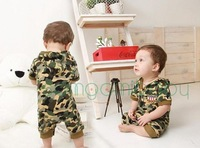 Camoflage style Cotta baby romper with cap Fashion style suitable for playing outing 2013 new design