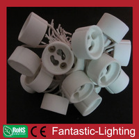 GU10 bulb Base Socket Lamp Holder Ceramic Wire Connector 500pcs/lot high quality fast free shipping