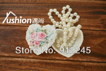 Free shipping 1 Pcs Creative gift retro resin jewelry case,Resin crafts exquisite jewelry storage box,Heart-shaped pearl roses
