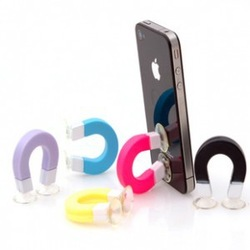 U-shaped multi-function magnet shape phone holder Data lines fixed New creative tools Wholesale+free shipping(China (Mainland))