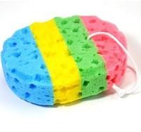 Free Shipping Four-color seaweed bath sponges  ,natural sea sponges.4pcs/lot.49