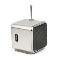 1pc Silver Digital portable Speaker Mini Speaker MP3 Player USB Disk Micro SD TF Card FM Radio Line In/ Out sound box 80995