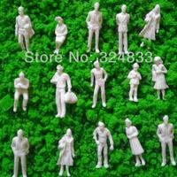300pcs  1/50 white Figures WF-1/50, model figure O scale for tran layout