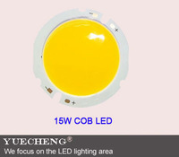 hot sales high power  15w COB LED  light source best quality  15w surface diode cob LED lamp beads  free shipping
