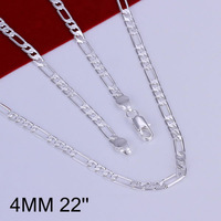 Hot! free shipping wholesale 925 silver necklace, 925 silver fashion jewelry 4mm Necklace-24 inches N102-22