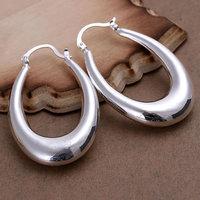 Wholesale 925 silver earrings, 925 silver fashion jewelry, Hollow U Earrings E115