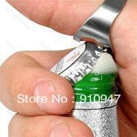 Free shipping Stainless Steel Finger Ring Bottle Opener Bar Beer tool 12pcs/lot