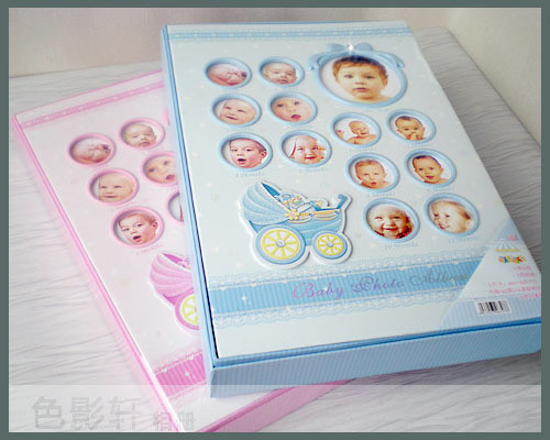 free shipping 6 4r boxed baby photo album photo album pocket with thin album(China (Mainland))