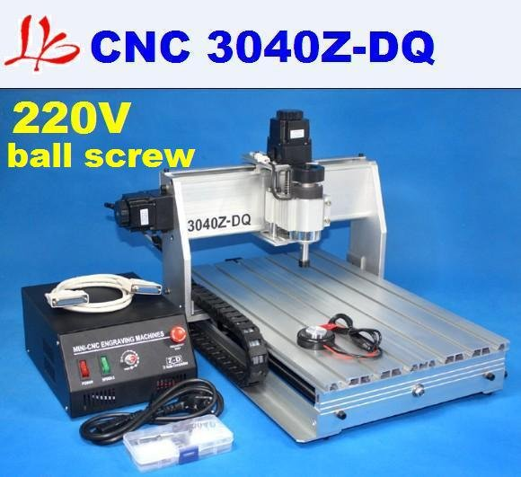 220V cnc 3040Z-DQ engraving machine with Ball Screw Design, upgrade from cnc 3020t-dj,cnc milling machine,made in china(China (Mainland))