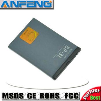 Standard Replacement Battery BP-3L BP3L For Nokia 603/Asha battery 1300mAh  10pcs/lot