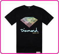 Stock Free Shipping pink dolphin wholesale hip hop clothing letter print t shirt men tshirt discount diamond supply co t shirt