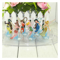 Wholesale 6set Tinkerbell Fairy Adorable tinker bell Figures High Quality PVC (6pcs/set) 3inch 9cm Retail