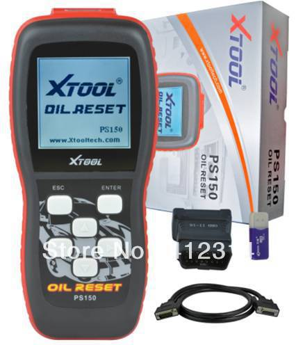 Free DHL XTOOL PS150 oil reset tool Update free work with universal cars models(China (Mainland))
