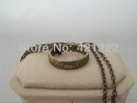 Wholesale GOOD GIFT Fashion Jewelry Lord of the Rings Retro Gold Tone Ring Pendant Chain Necklace w/ black gift bag LOTR