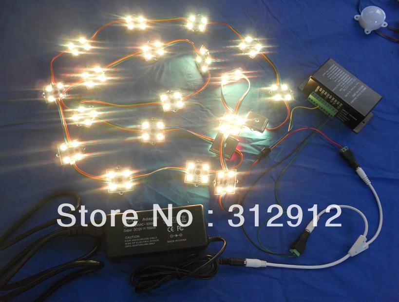 40pcs 12V WS2801 pixel module+DMX-SPI convertor+12V/85W power adaptor(China (Mainland))