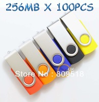 256MB 100PCS wholesales Real Capacity  USB Flash Memory pen Drive Stick