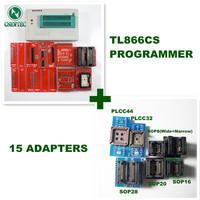 English and Russian software & manual 15ADAPTERS+ V5.91 MiniPro TL866 Programmer TL866CS USB Universal Programmer + 13143 chips