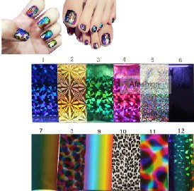10pcs mix color the nails art start design sticker for polish care free shipping(China (Mainland))