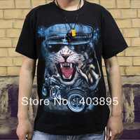 (Free Shipping)Fashion Hiphop Personality T-shirt 3D Punk Heavy Metal Short-sleeve Casual Men's Top
