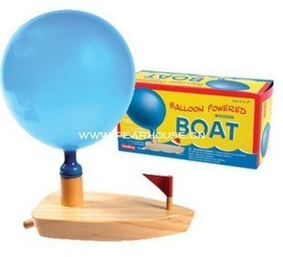 free shipping Wooden play small wooden blocks educational toys nostalgic classic balloon power boat 200