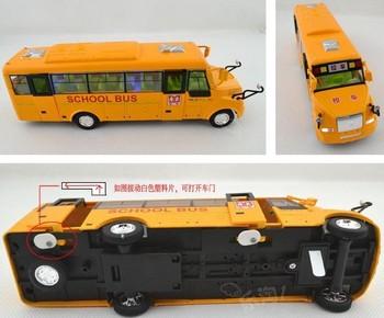 The new school bus school bus car model alloy simulation toy car model car toy car pull back