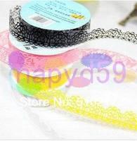 45pcs Korean DIY hollow lace stationery sticker album lace decorative gift wrap tape adhesive tape sticker