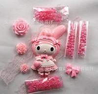 HOT Crystal Cute Hello Kitty DIY cell Phone Case Deco Den Kit