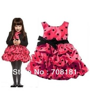 HOT SALE! Free shipping wholesale 6pcs/lot 2 color 2013 beautiful HM kids Girls dress Layered TUTU dresses Girls clothing