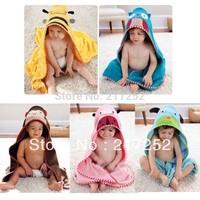2013 new cartoon animal baby hooded bathrobe/bath towel/bath terry.bathing robe for children/kids/infant