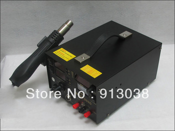 DHL free shipping Saike  909D rework station hot air gun soldering station with power 3 in 1 220V or 110V 700W