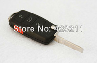 FLIP Folding Remote Key Shell Case For Volkswagen VW Touareg 3+1 Buttons  FT0042