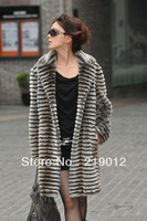 Free Shipping Luxury Cube Faux Fur Like Mink Coat Double Face Women's Long Jacket Clothes 808099