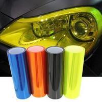 "Free shipping 12"" x 24"" Auto Smoke Fog Light Car HeadLight Taillight Sticker Vinyl Film Sheet,11 colors"