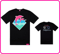 Stock Free shipping new arrival Pink dolphin men's tshirt 100% cotton man t-shirt