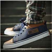 Free Shipping 2013 summer Men's casual skateboarding Flats shoes male fashion Vintage Canvas Sports