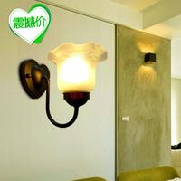 Fashion single head wall lamp ofhead home living room wall lamp brief mirror light rustic balcony wall lamp