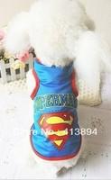Wholesale!  Superman Pet Dog Clothes T-Shirt S,M,L,XL, 4 Size 3 Colors Available, Free Shipping