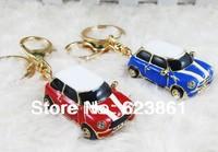 Hot sell free shipping 1 pcs Alloy Mini Car Model  Keychain Key Hanger Key Ring Key Chain