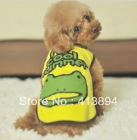 Best Buy! New Frog Pattern Cotton My Cool Summer Pet Clothes Vest S,M,L,XL, 4 Size Available Free Shipping