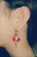 Grape silver earrings fashion earring long earrings female black tassel drop earring accessories6 pcs/lot  free shipping